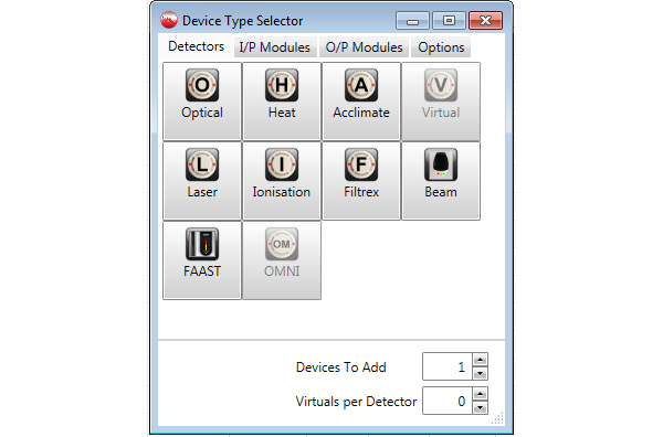 Device type selector